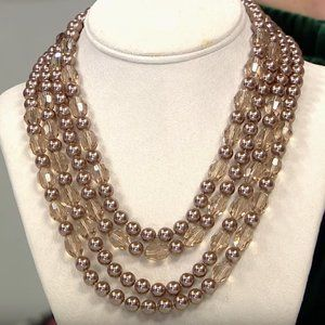 "Heidi Daus ""Take II"" 2-pc Beaded 42""& 35"" NECKLACE"